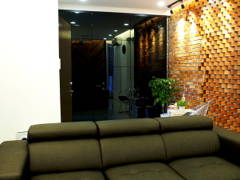 Minimalistic Industrial Foyer Living Room@J Residence