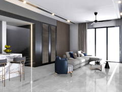 Contemporary Living Room@Cheria Residence, Tropicana Aman