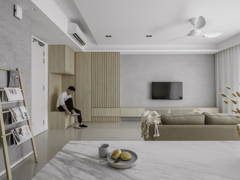 Contemporary Minimalistic Living Room@Hatsuhinode - Condominium