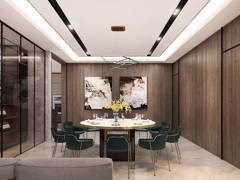 Contemporary Modern Dining Room@Dahlia Residence at Malacca