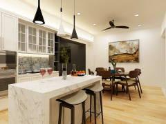 Asian Modern Dining Room Kitchen@REGIO VILLA (MONTEREY), ECO SANCTUARY