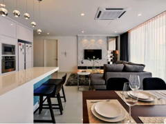 Contemporary Modern Living Room Dining Room@Kuchai Lama Residence