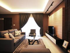 Asian Modern Living Room@Glomac - Show House