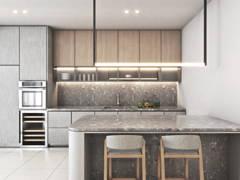 Contemporary Zen Kitchen@Taman Desa 3 Storey Terrace