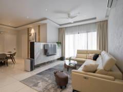 Contemporary Modern Living Room@Sky Realm @ Sky Condominium, Puchong