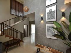 Asian Modern Foyer@Bungalow Villa Mayuri