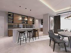 Modern Dining Room Kitchen@Aspen @ Cyberjaya