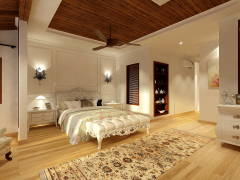 Classic Bedroom@TROPICANA GOLF CLUB BUNGALOW HOUSE
