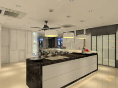 Modern Kitchen@3 Storey Bungalow @ KL