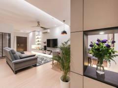 Minimalistic Scandinavian Dining Room Living Room@Mutiara Damansara Double Storey Terrace