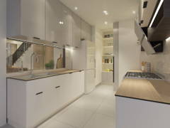 Contemporary Scandinavian Kitchen@Kalista Park Homes Superlink