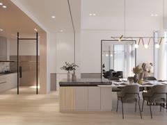 Modern Zen Dining Room@Empire Residence
