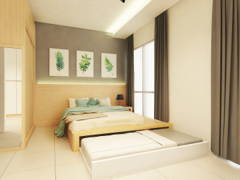 Minimalistic Bedroom@Hillion Residence, Singapore