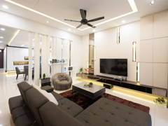 Contemporary Modern Dining Room Living Room@Simple Modern Style - SEMI-D, SETIA ALAM