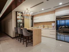 Contemporary Modern Dining Room Kitchen@luxury condominium unit @ Icon City Condominium