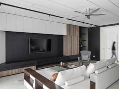 Minimalistic Modern Living Room@SIMPLE CASUAL - Double storey, Eco santuary