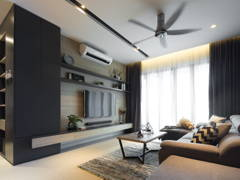 Contemporary Modern Living Room@The Reach, Titiwangsa