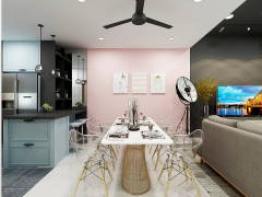 Contemporary Modern Dining Room Kitchen@Seksyen 32, Shah Alam