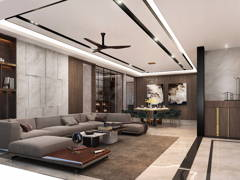 Contemporary Modern Living Room@Dahlia Residence at Malacca