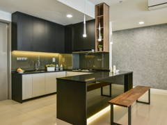 Contemporary Modern Kitchen@Uptown Residences