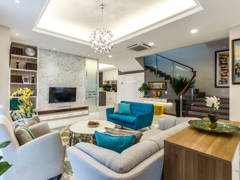 Classic Contemporary Family Room Living Room@Modern classic bungalow at Setia Alam, Selangor