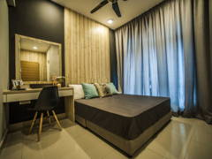 Contemporary Modern Bedroom@Pearl Suria Residence