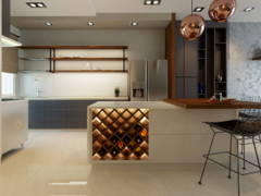 Contemporary Modern Dining Room Kitchen@Villa Pines Town House