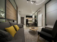 Contemporary Modern Living Room@IOI Zentro Residence