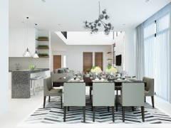 Modern Dining Room Kitchen@TERRAZA @ ECO SANTUARY
