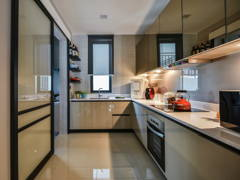 Contemporary Modern Kitchen@Anjali Residence Family Home