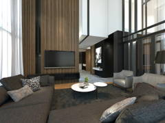 Contemporary Foyer Living Room@Setia-residence , Bungalow at Sitiawan, Perak