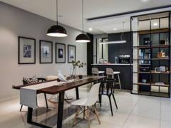 Minimalistic Scandinavian Dining Room Kitchen@Acacia 7
