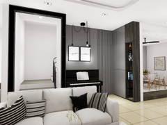 Contemporary Living Room@TAMAN MAJU, RAUB PAHANG