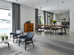 Minimalistic Dining Room Living Room@The Pool House