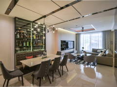 Contemporary Dining Room@Terrace house at Bandar Puteri Puchong