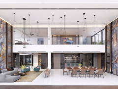Contemporary Modern Living Room@Seni Mont Kiara Pent House