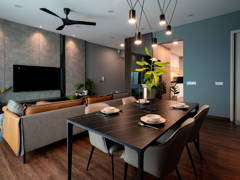 Contemporary Modern Dining Room@A PERFECT BLEND OF COZY MINIMALIST