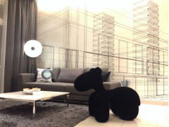 Retro Contemporary Living Room@Adda Heights Show Unit (3B)