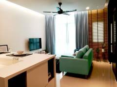 Minimalistic Scandinavian Dining Room Living Room@TA RESIDENCE