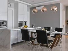 Contemporary Modern Kitchen Living Room@Modern Contemporary Condo