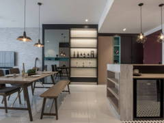 Contemporary Modern Dining Room Kitchen@Amour