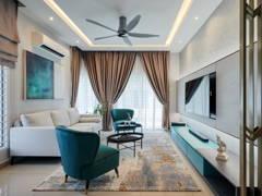 Contemporary Modern Living Room@Taman Desiran Bayu