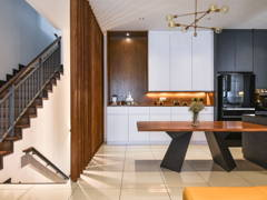 Contemporary Dining Room@N'Dira Townhouse, Puchong South