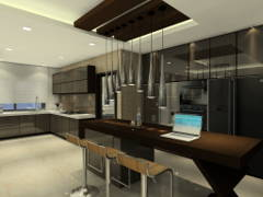 Contemporary Kitchen@Damai Condominium @ Mont Kiara, KL