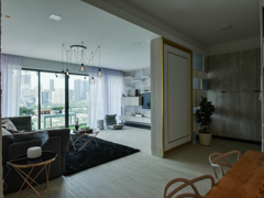 Scandinavian Living Room@KL Sky Residences