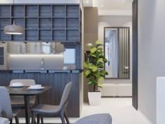 Contemporary Modern Foyer Kitchen@Twins Damansara Heights Condo