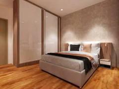 Contemporary Zen Bedroom@PUTRA RESIDENCE, PUTRA HEIGHT