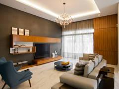 Contemporary Scandinavian Living Room@Mont Kiara Semi-D