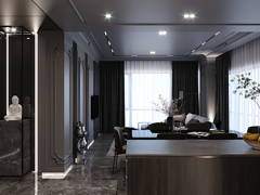 Classic Modern Dining Room Living Room@ARIA Luxury Residence