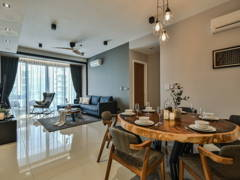 Asian Modern Dining Room@Anjali Residence Family Home